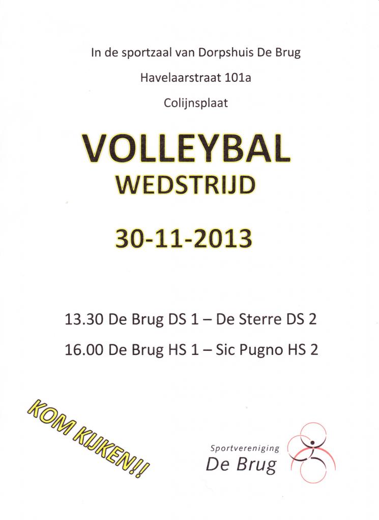 Volleybalwedstrijd SV De Brug